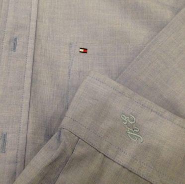 Monogramy Inicjały na koszulach, ubraniach, kapciach i innych rzeczach